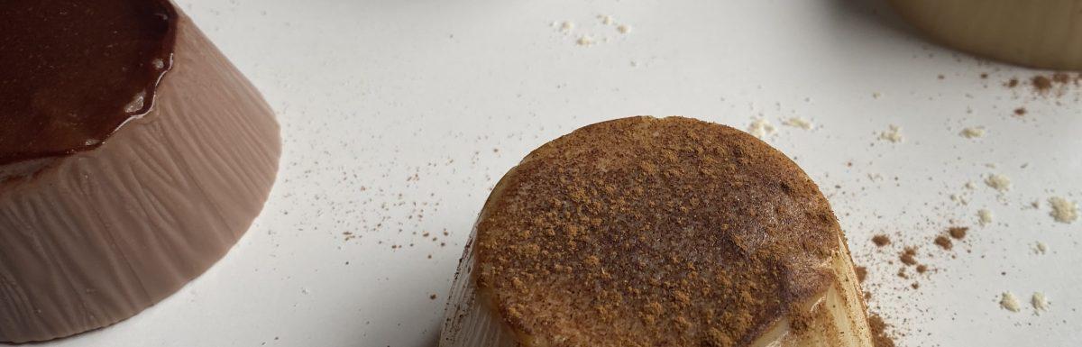 Flan proteico de banoffee y chocolate