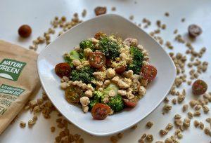 salteado de verduras y soja