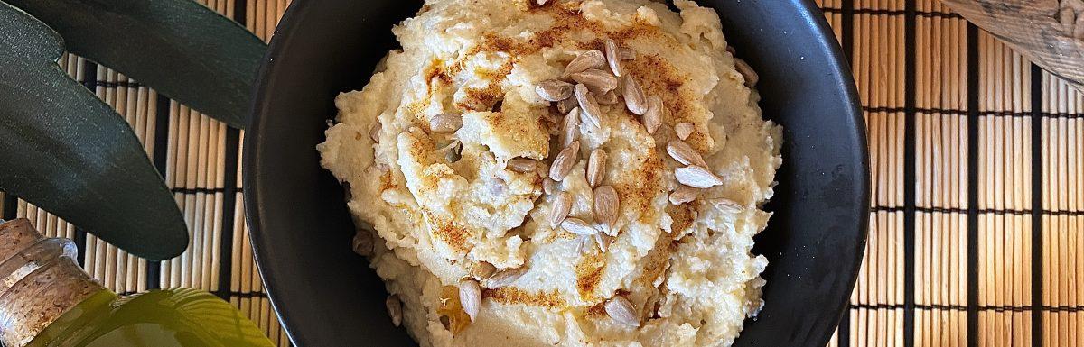 humus de coliflor Nutrición con Q
