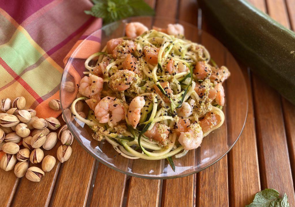 espaguetis de calabacín - Nutrición con Q